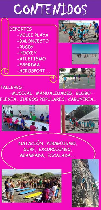 CAMPAMENTO MAR AZUL 2017 contenidos