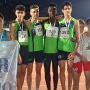 Campeones de Andalucia Cadetes 4X100