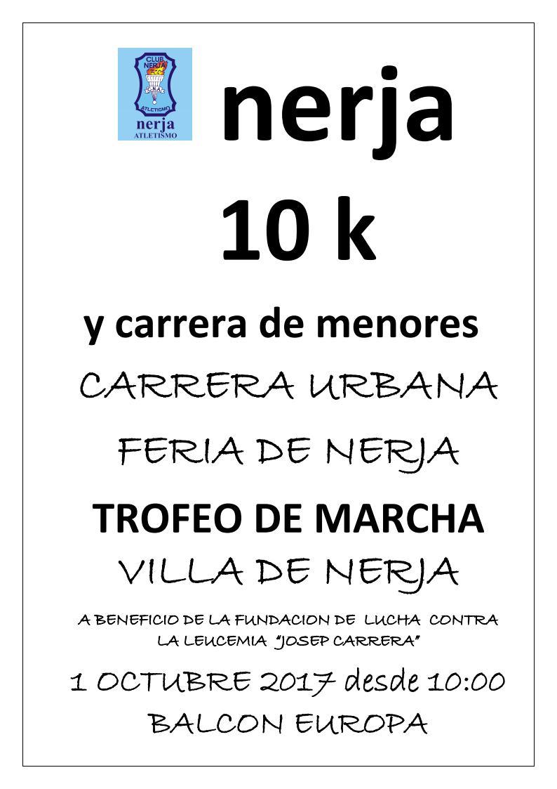 Cartel Marcha y Carrera de Nerja 2017