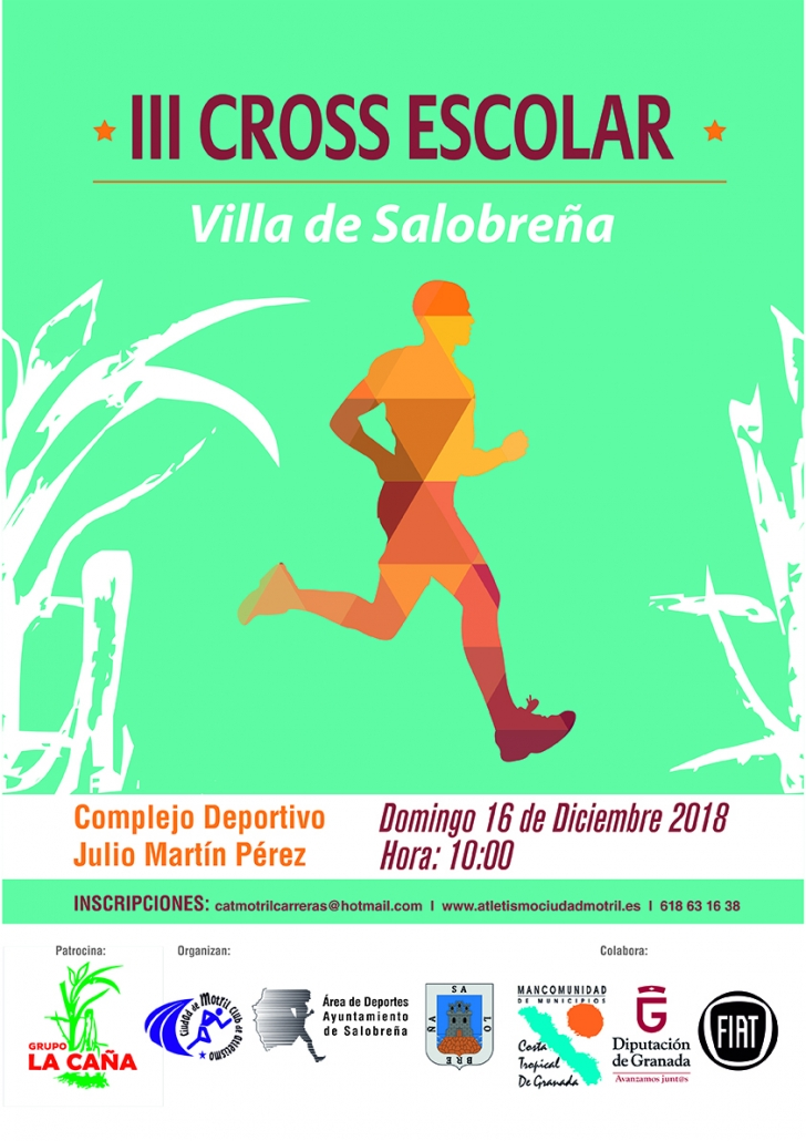 Cartel III Cross Escolar Villa de Salobreña 2018