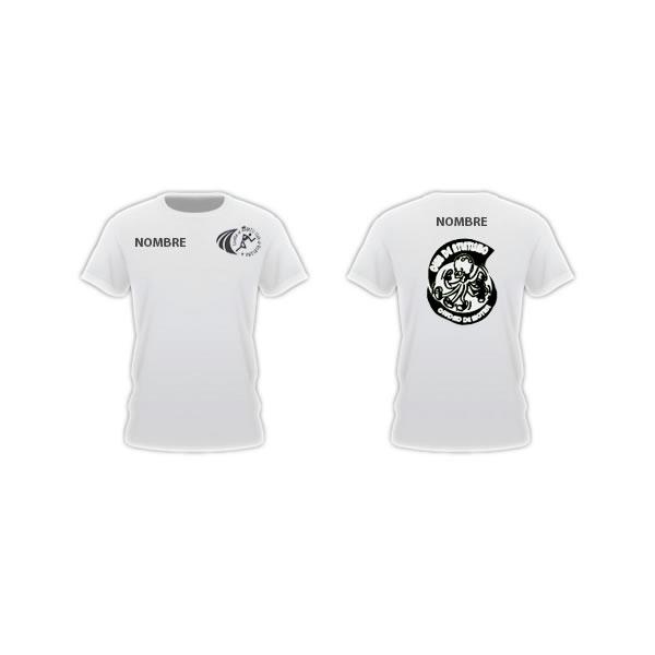 Camisetas atletismo divertido NOMBRE blancas mc