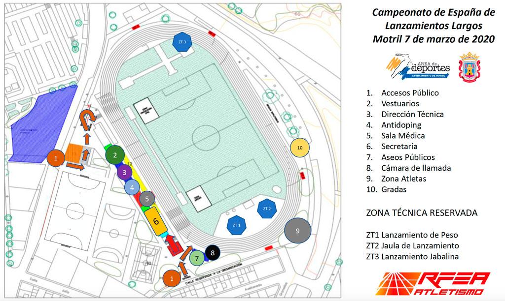 Plano del Estadio Emilio Hidalgo