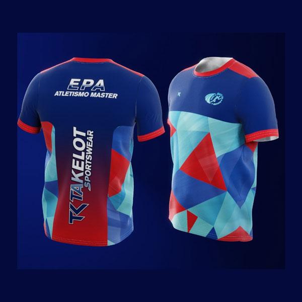 Camiseta-entrenamiento-azul-roja-EPA-Atletismo-Master