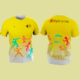 Camiseta-Atletismo-Divertido-Amarilla